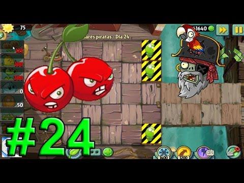 """Plants Vs Zombies 2, Mares Piratas Día 24 """"Consigue La Petacereza"""""""