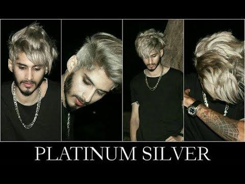 PLATINUM SILVER (Hairstyles) Hair Transformation 2018 | HAIR COLOR AND HAIRCUT FOR MEN | Ratan Singh