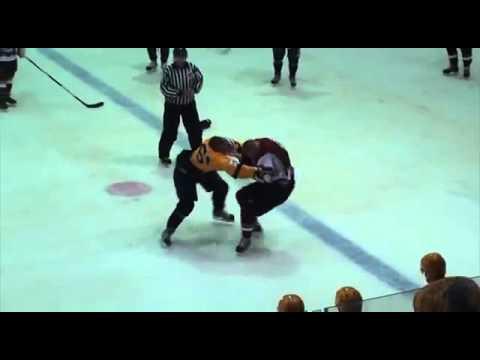 Драка: МХЛ: Андрей Белов (Атланты) vs Калвис Озолс (ХК Рига)
