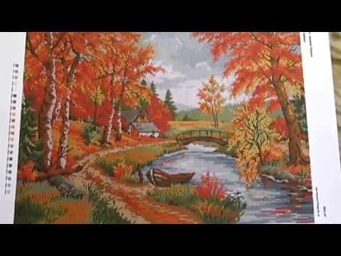 Вышивка бисером на тему осень