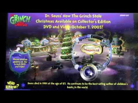 grinch 2000 website - YouTube
