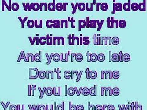 Evanescence - Call Me When You're Sober Karaoke