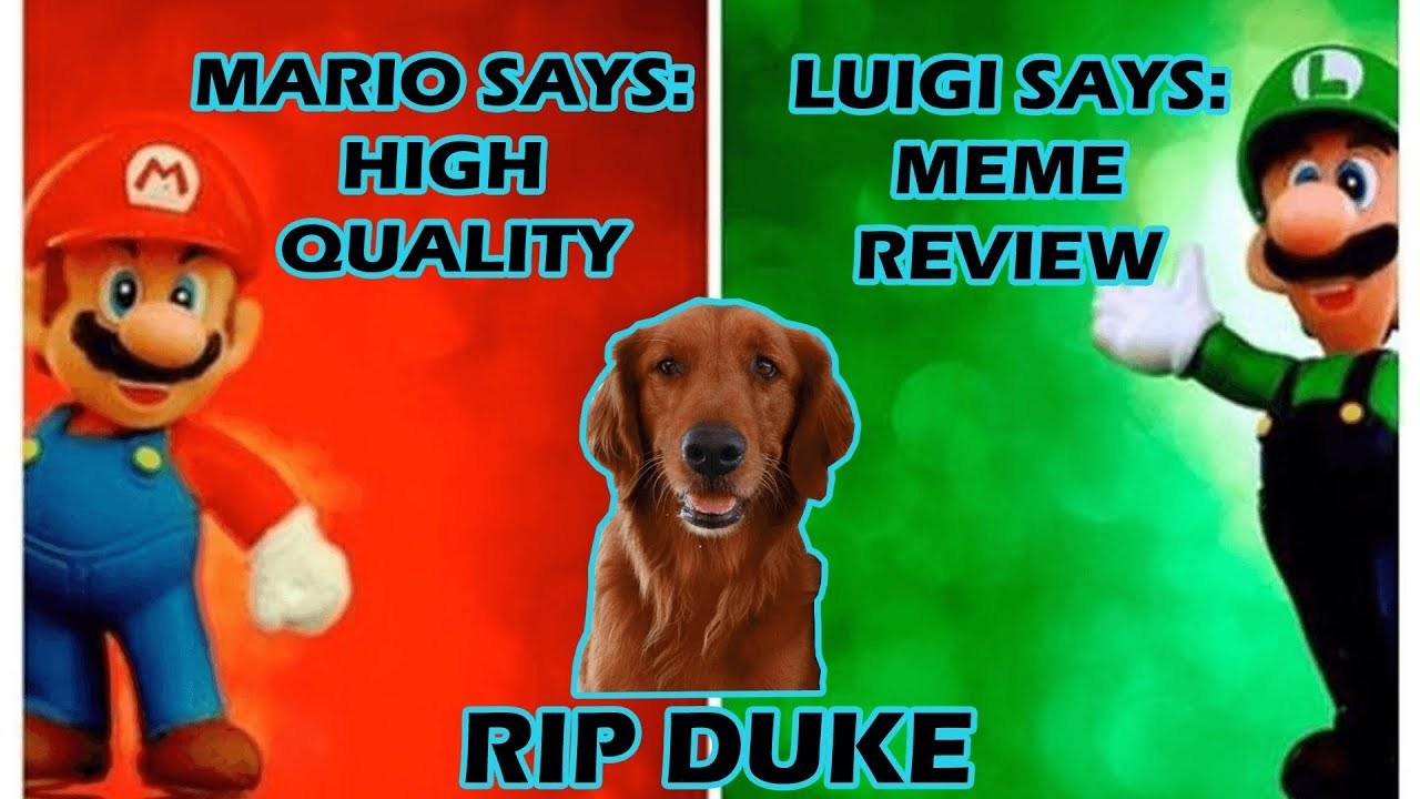 What Do The Mario Bros Think Rip Duke Meme Review 15 Youtube