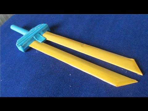 Làm kiếm giấy 2 lưỡi | đồ chơi sáng tạo