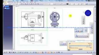 Catia V5 Tutorial|drafting|setting Up 3rds Angle Projection Standard|different View Generation Stds