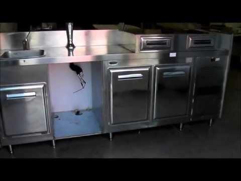Rif 263 asta banco frigo in acciaio inox con lavandino for Lavandino acciaio inox