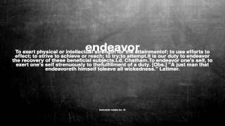 What does endeavor mean
