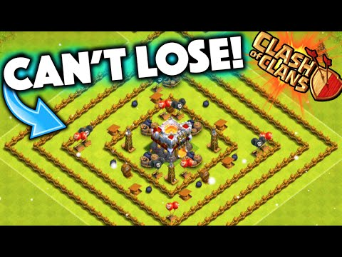 Clash of Clans - IMPOSSIBLE TO LOSE BASE! Level 1 Town Hall 11 Defense Troll Base!