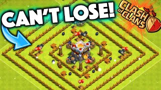 clash of clans impossible to lose base level 1 town hall 11 defense troll base