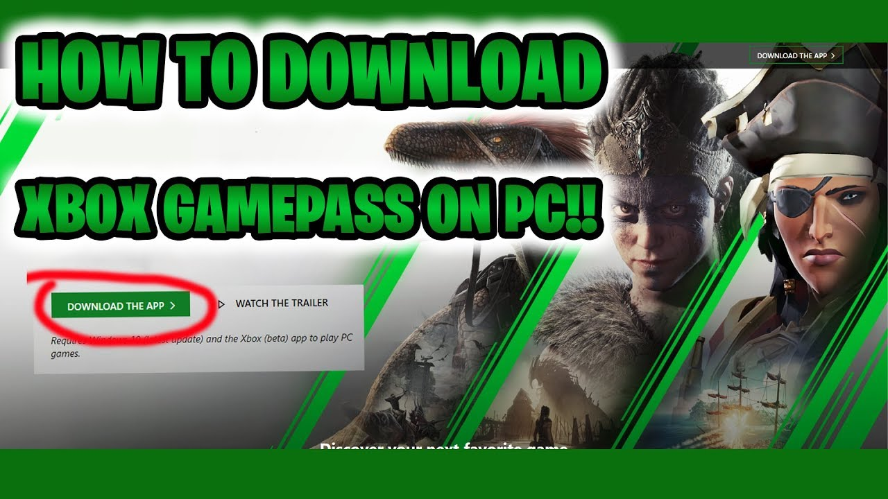 How to Install Game Pass Games On PC - YouTube
