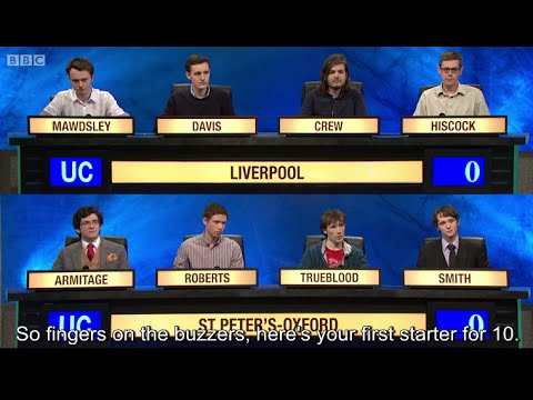 University Challenge S44E29 University of Liverpool vs St Peter's College oxford