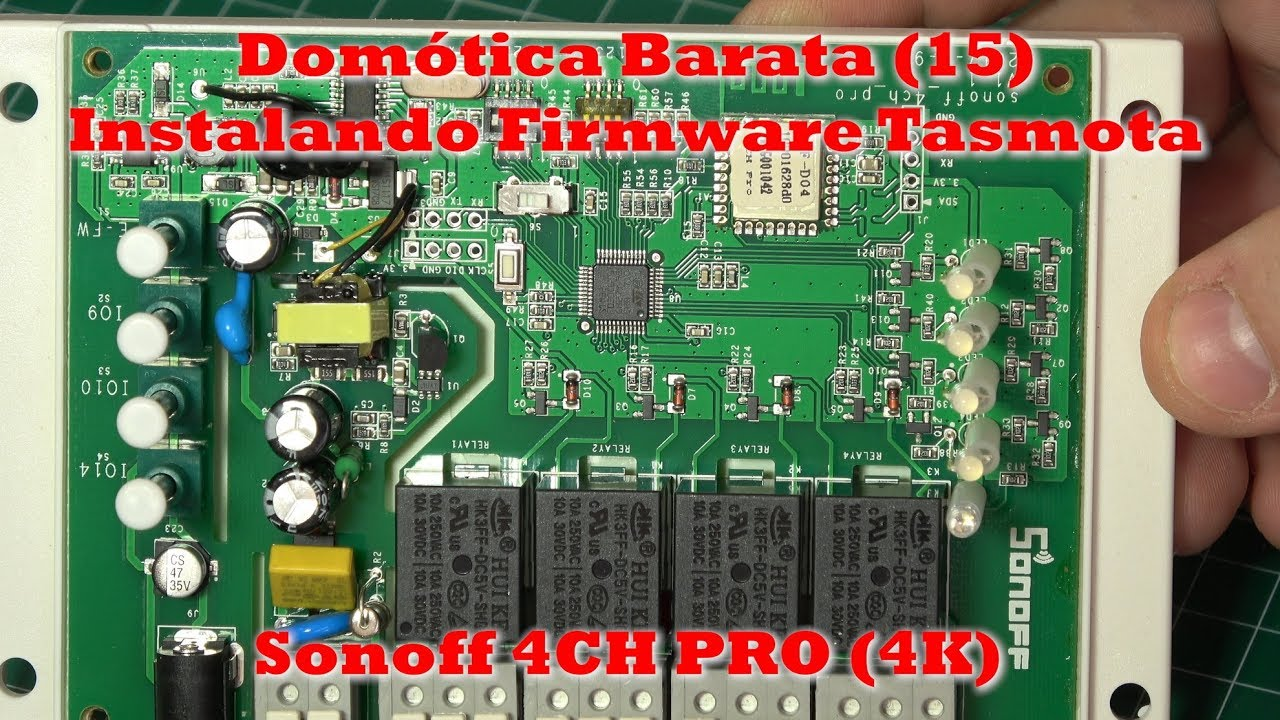 Domótica Barata (15)  Sonoff 4CH Pro  Firmware Tasmota y Openhab (#4K)