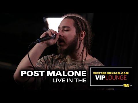 Post Malone peforms live inside the WesternUnion com VIP Lounge