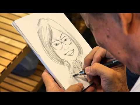 Mr Poon caricature drawing of Alice Lim