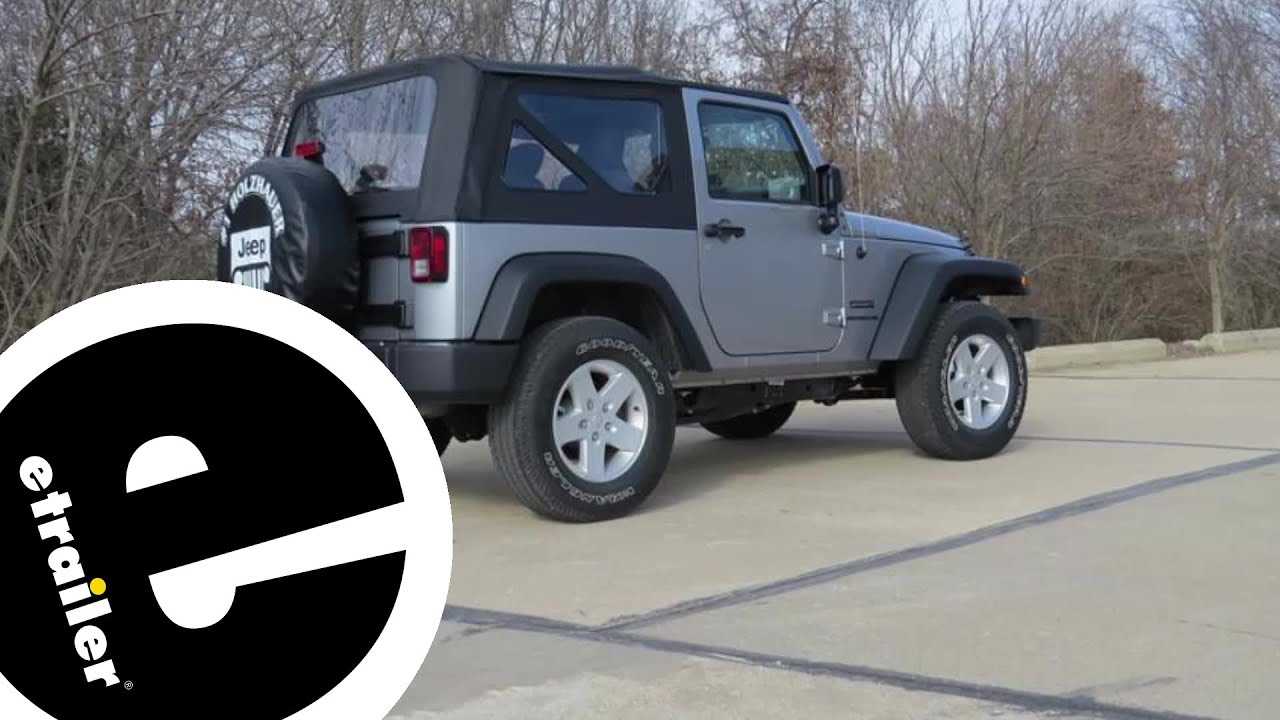 trailer wiring harness installation 2017 jeep wrangler youtube 2014 jeep wrangler audio wiring diagram trailer wiring harness for 2017 jeep wrangler [ 1280 x 720 Pixel ]