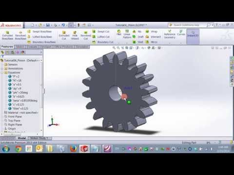 Modeling an Equation Driven Involute Spur Gear in Solidworks