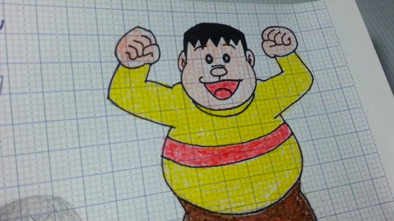Vẽ Chaien/ Draw JAIAN – GODA TAKESHI from Doreamon so cute/ Draw Channel