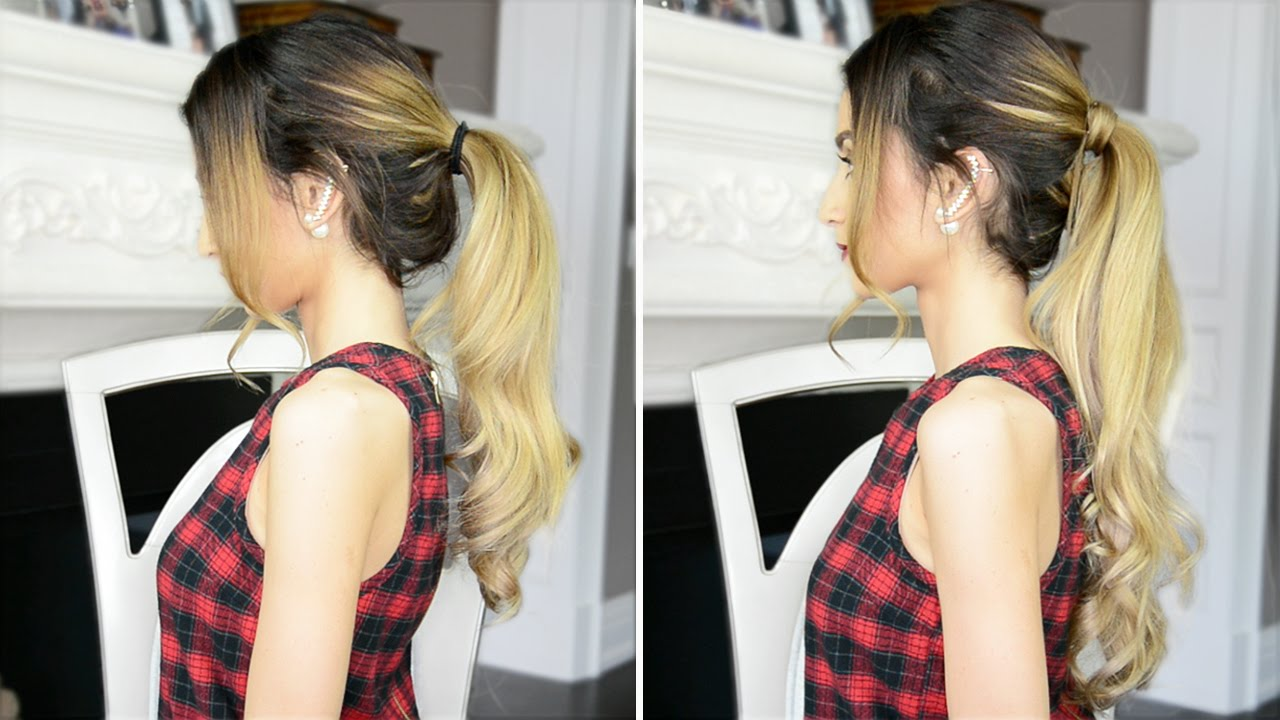 How To Make Your Ponytail Look Longer YouTube