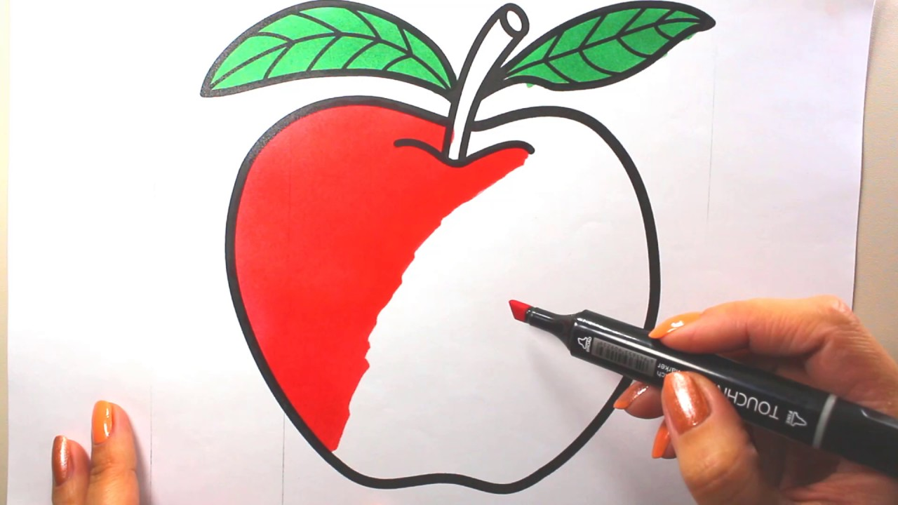 Apple Coloring Picture