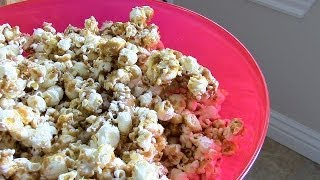 How to make Healthy Caramel Popcorn-Best ever recipe!