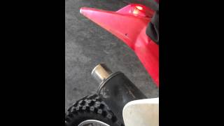 2002 Honda XR250R custom stock exhaust
