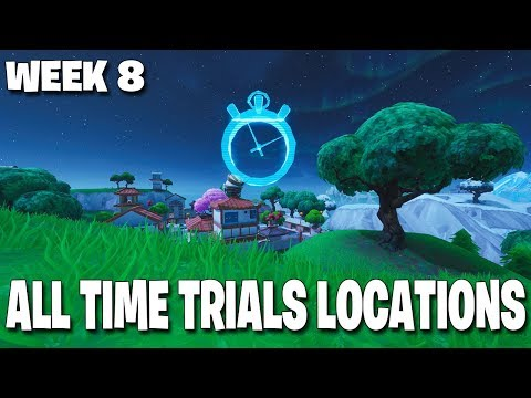 ALL TIME TRIALS LOCATIONS COMPLETE GUIDE! FORTNITE WEEK 8 SPACE RACERS