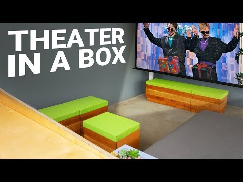 DIY Outdoor Home Theater with 4k Projector