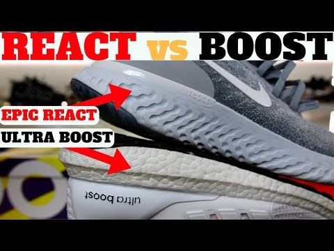 NIKE EPIC REACT FLYKNIT vs ADIDAS ULTRA BOOST Comparison!