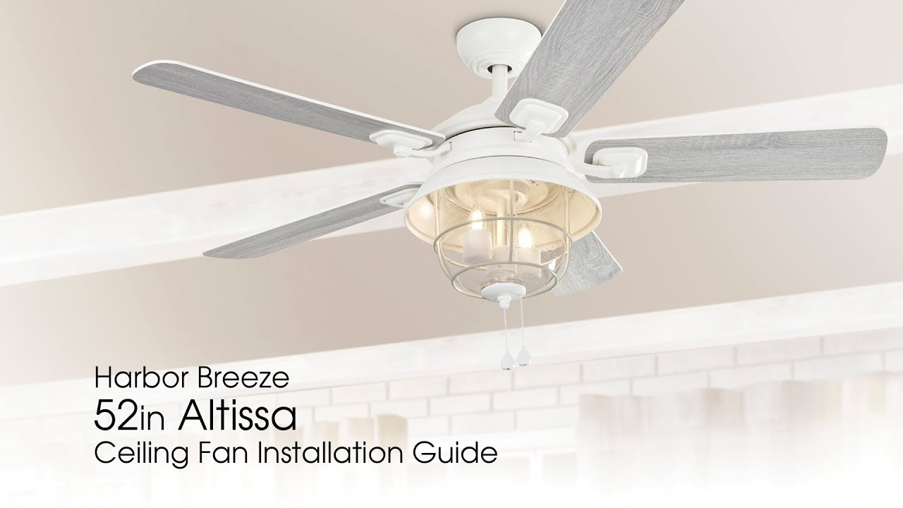 How To Install The 52 Quot Altissa Ceiling Fan Youtube
