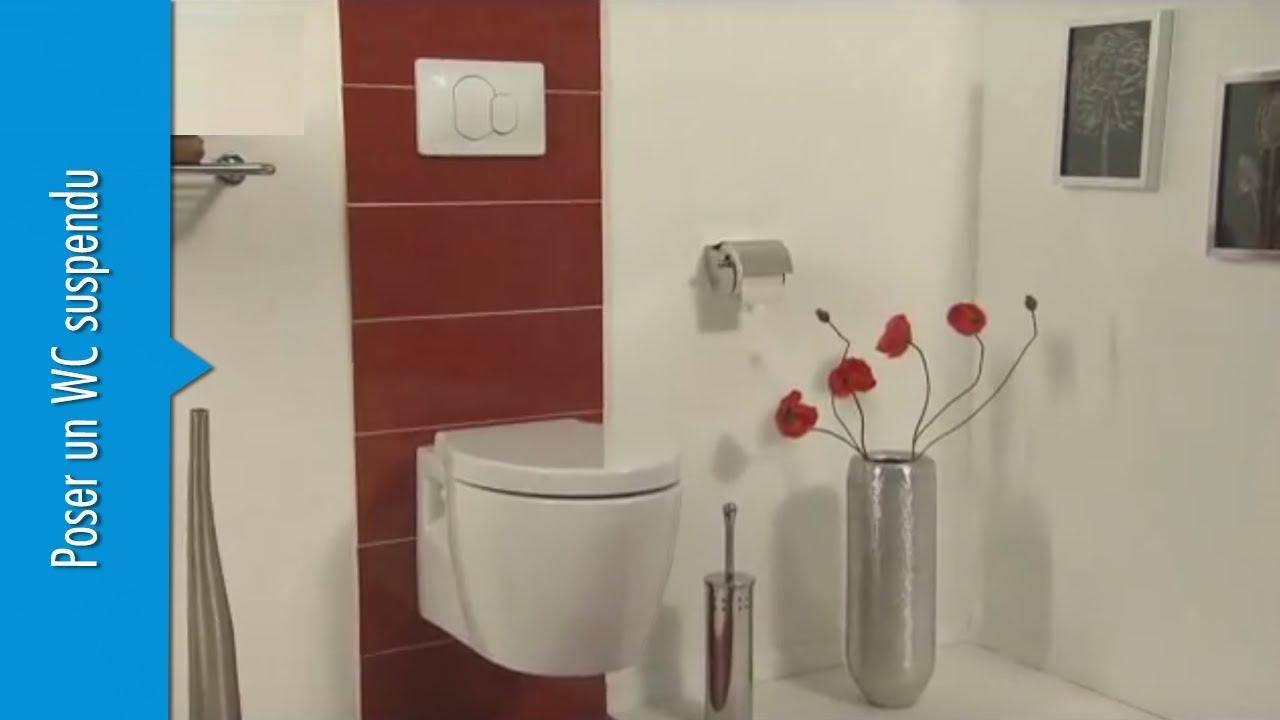 Coffrage Wc Suspendu Avec Rangement poser un wc suspendu - vidéo - chauffage & plomberie