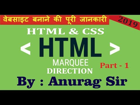 Learn HTML & CSS In 60 Minutes | Full Beginners Course Video With Practicals PART 6 MARQUEE PART 1