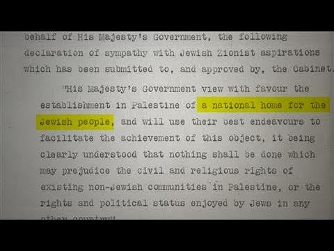Israel's Foundation Stone: A Century Of Controversy For The Balfour Declaration