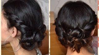 Прическа с плетением жгутиками. Easy Rope Twist braided Updo. Hair tutorial.