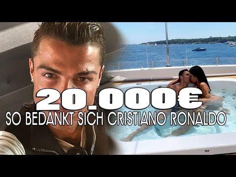 CRISTIANO RONALDO belohnt Personal mit 20000€ Trinkgeld ❤ & das weil....