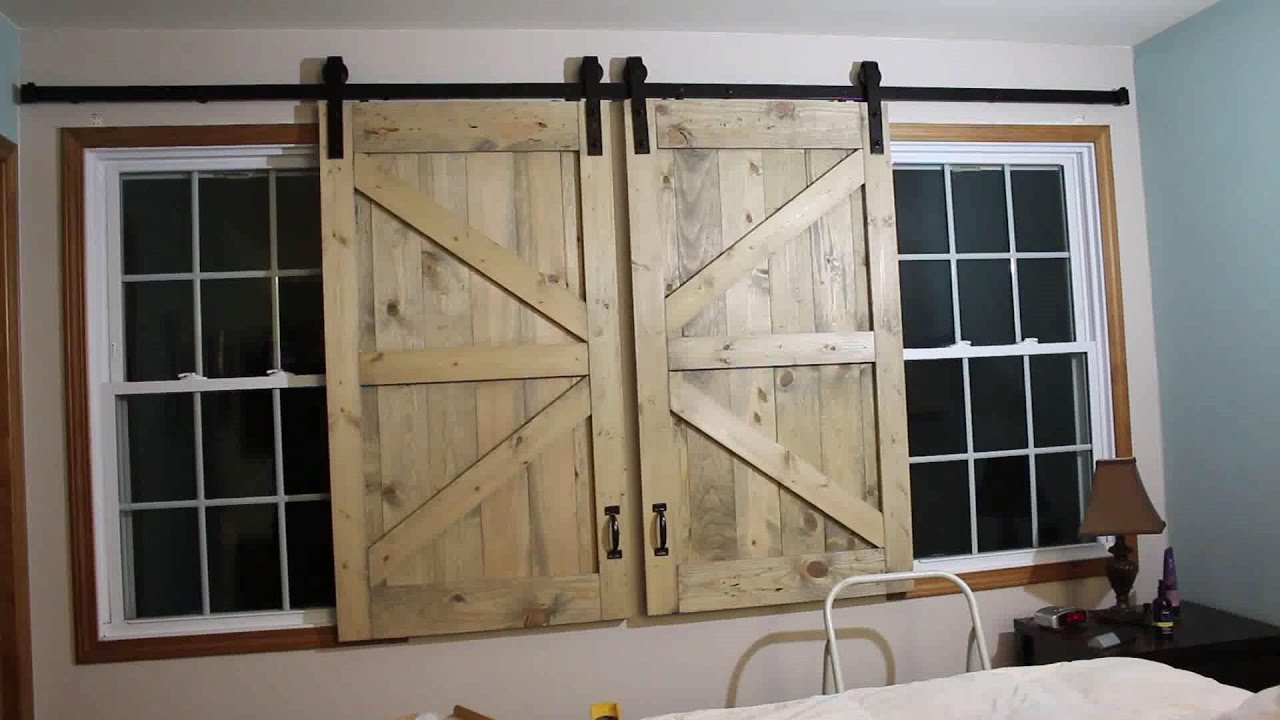 Barn Door Headboard Window Covers & Barn Door Headboard Window Covers - YouTube