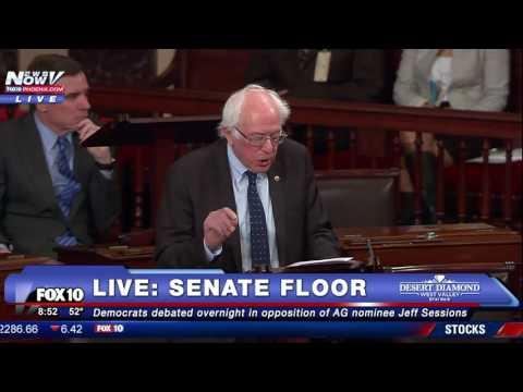 FNN: Bernie Sanders DEFENDS Elizabeth Warren,  Reads Coretta Scott King Letter on Senate Floor
