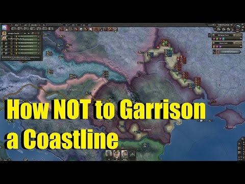 The Armchair Generals | Hearts of Iron IV | How NOT to Garrison a Coastline