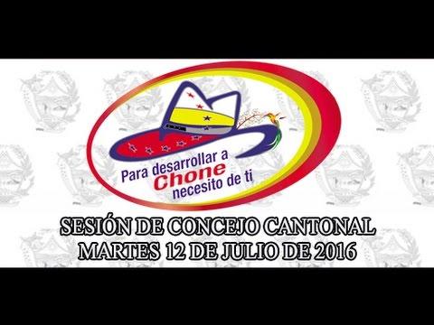 Sesión de Concejo - 12 JUL 2016