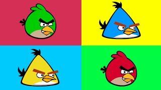 Мультик - Раскраска - Энгри Бёрдс - Учим цвета. Angry Birds - Learn Colors