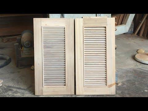 Amazing Woodworking Shutter Doors - How To Build Shutter Doors For Kitchen Cabinets