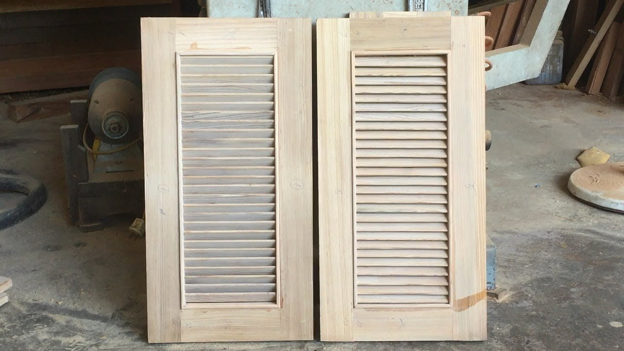Amazing Woodworking Shutter Doors   How To Build Shutter Doors For Kitchen  Cabinets