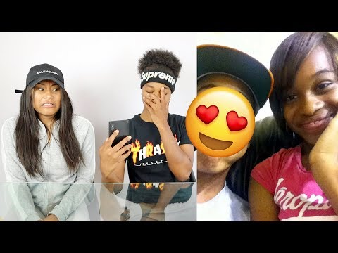 GIRLFRIEND REACTS TO OLD PHOTOS OF ME AND MY EX!!!