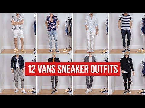 12 Ways to Style Vans Sneakers | Men's Fashion | Outfit Ideas