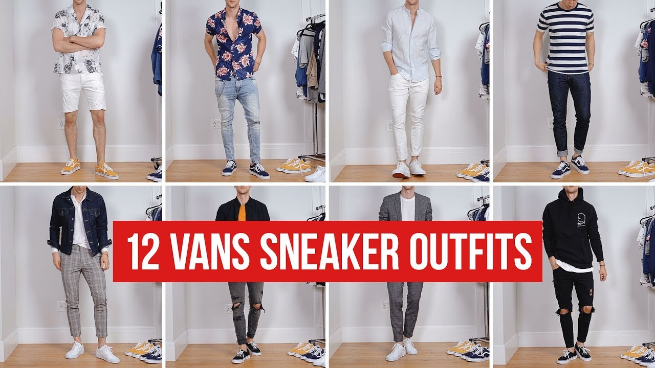 12 Ways to Style Vans Sneakers | Men's Fashion | Outfit Ideas 9