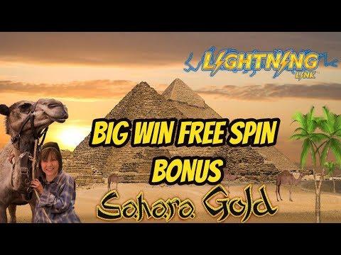 BIG WIN-SAHARA GOLD SLOT- FREE SPIN BONUS - 동영상
