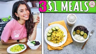 3 $1 VEGAN MEALS TO LOSE WEIGHT!