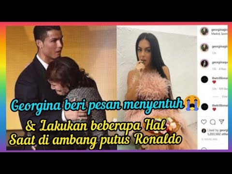 Georgina Lakukan Hal ini saat di Ambang Putus Ronaldo - YouTube