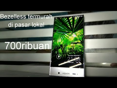 unboxing Bezelless 700ribuan, Sharp Aquos 305SH ex-Softbank
