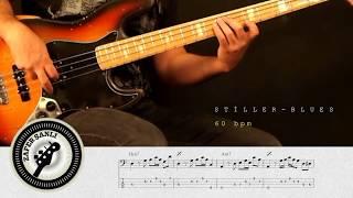 Zafer Şanlı Bas Gitar Dersleri Stiller Blues 60 Bpm