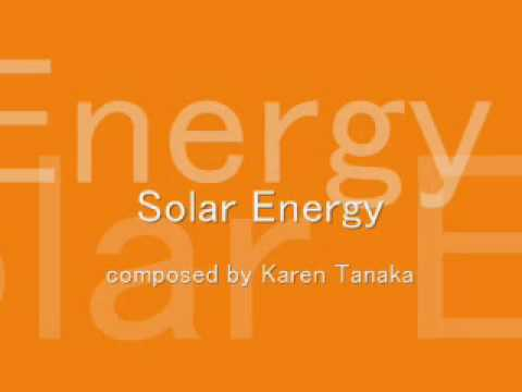 Karen Tanaka/「Our Planet Earth」No.3 Solar Energy/pf: Eiko Sudoh